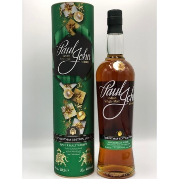 PAUL JOHN INDIAN SINGLE MALT CHRISMAS EDITION 2019